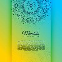 Vibrant Decorative Mandala Card Invitation Template