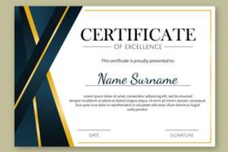 Certificate Template Free Vector Art    23948 Free Downloads  Gold Details Certificate of Excellence Template