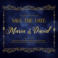 Beautiful Wedding Invitation Card Design In Premium Style