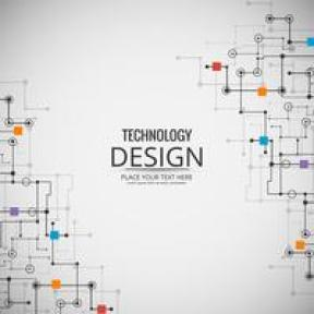 Teknologi abstrak latar belakang vektor ilustrasi desain