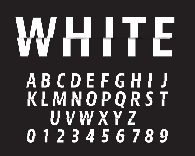 Cut Alphabet Font Template Letters And