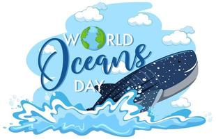 The ocean produces 50% of the world's oxygen. World Ocean Day Vector Art Icons And Graphics For Free Download