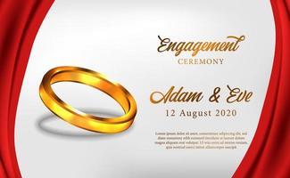 https www vecteezy com vector art 1750568 3d golden ring engagement ceremony propose wedding romantic
