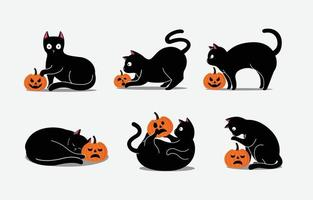 Find the perfect black cat halloween black & white image. Black Cat Halloween Vector Art Icons And Graphics For Free Download
