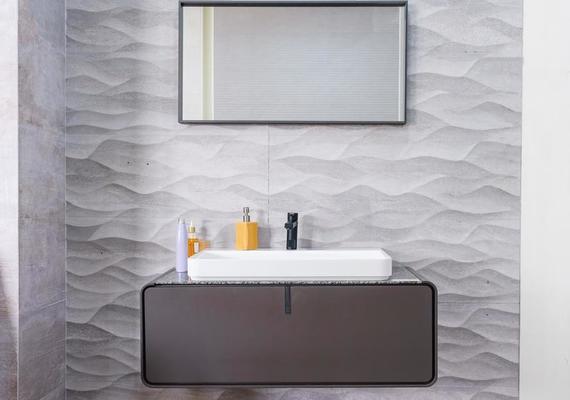 salle de bain grise moderne banque de