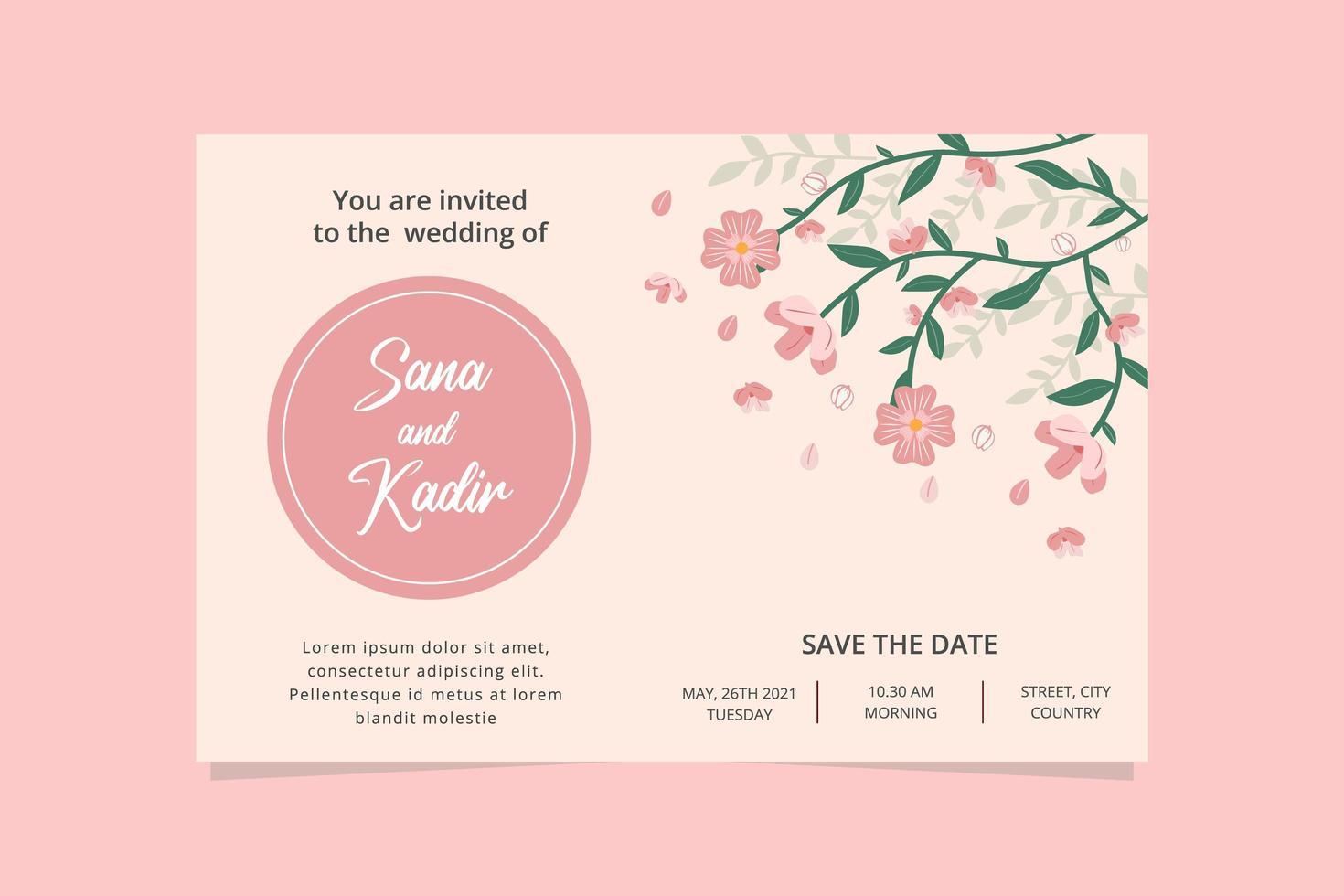 https fr vecteezy com art vectoriel 1868171 carte invitation mariage rose carte invitation mariage floral avec fond rose