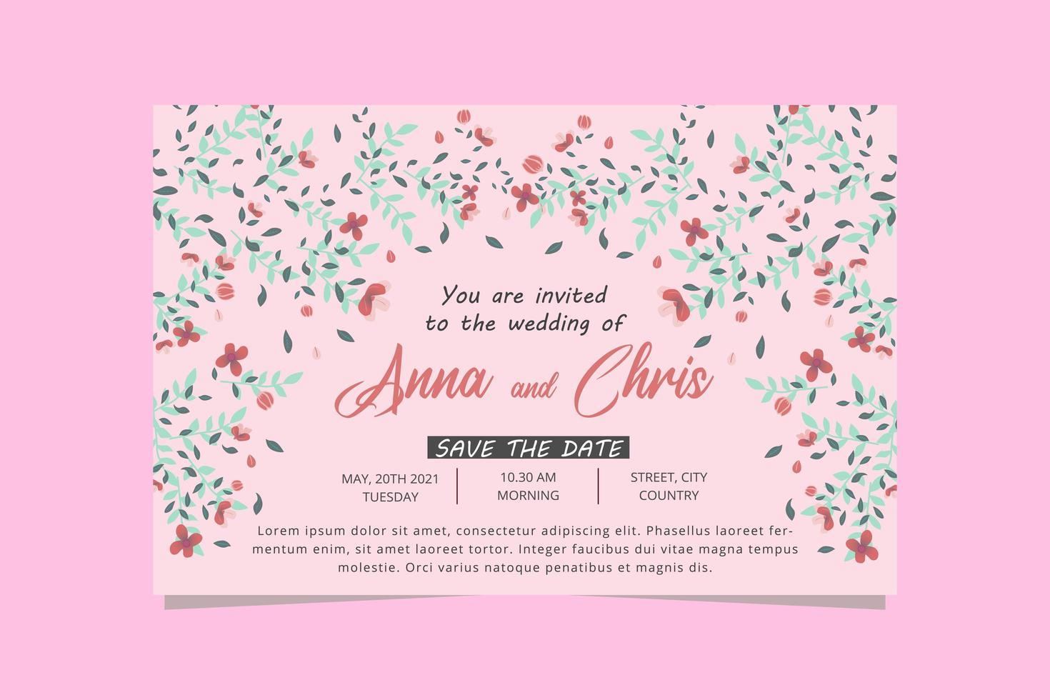 https fr vecteezy com art vectoriel 1868206 carte invitation mariage floral carte invitation mariage fleur