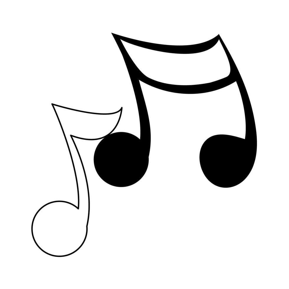 https fr vecteezy com art vectoriel 1972347 musique notes symbole isole dessin anime en noir et blanc