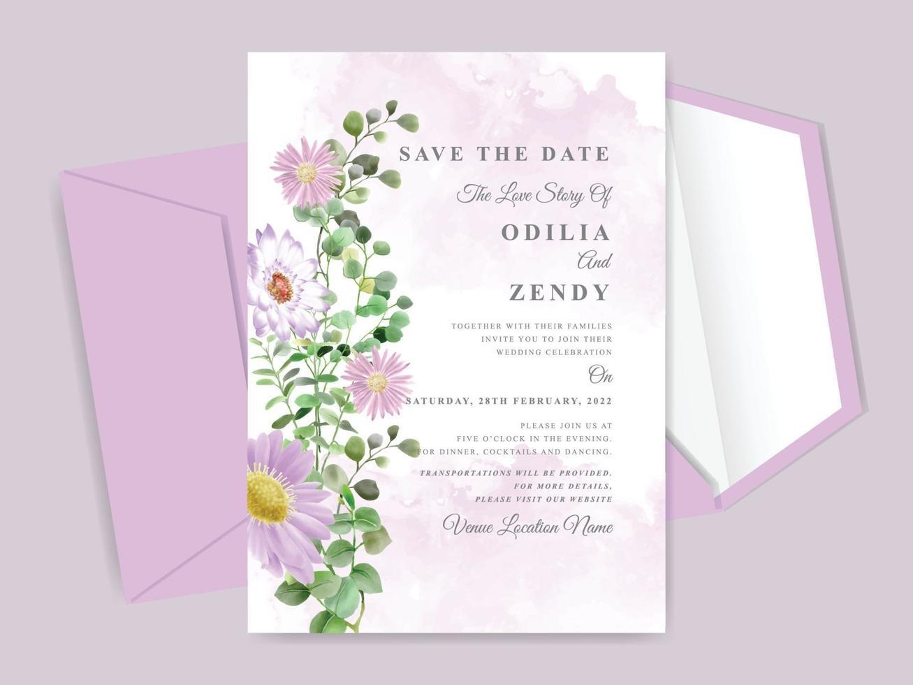 https fr vecteezy com art vectoriel 2041924 beau modele de carte invitation mariage floral