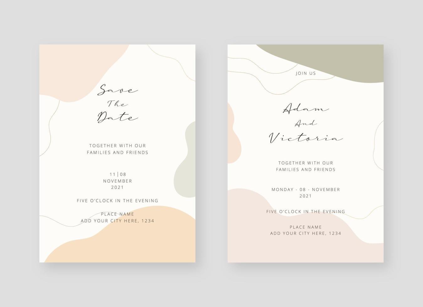 https fr vecteezy com art vectoriel 2065620 invitation carte modele ensemble de mariage invitation carte modele conception vecteur decoratif design fond