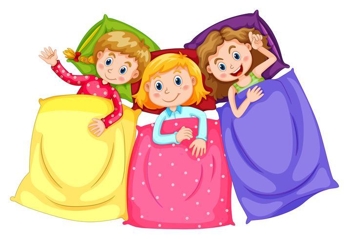 https fr vecteezy com art vectoriel 359473 filles en pyjama a la soiree pyjama