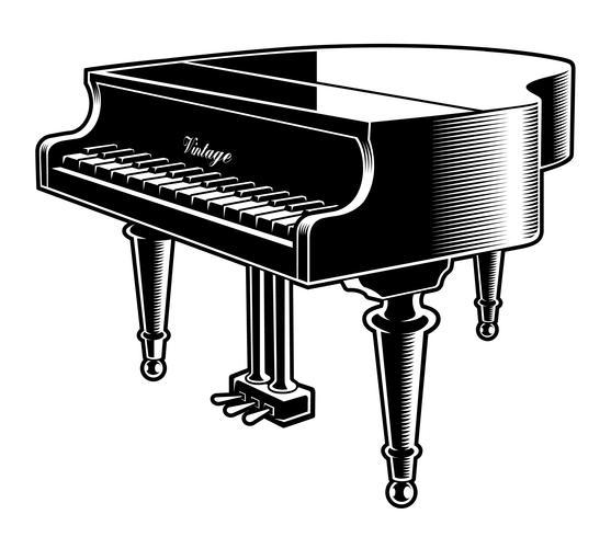 https fr vecteezy com art vectoriel 539495 illustration vectorielle noir et blanc du piano
