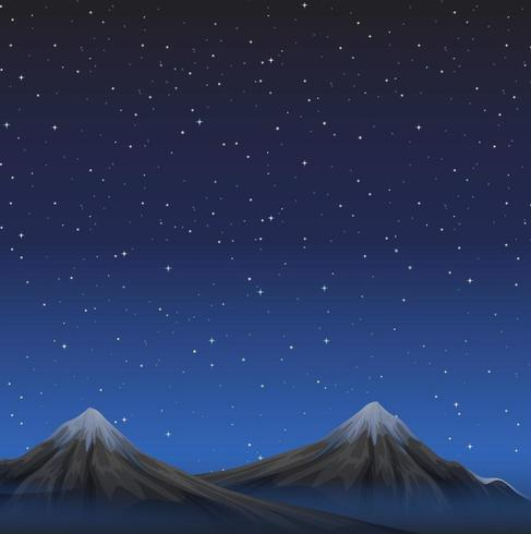 https fr vecteezy com art vectoriel 669232 scene avec des montagnes la nuit sous un ciel etoile