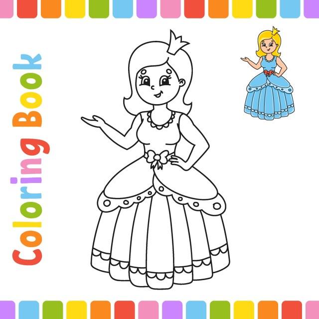 livre de coloriage pour les enfants. caractère joyeux