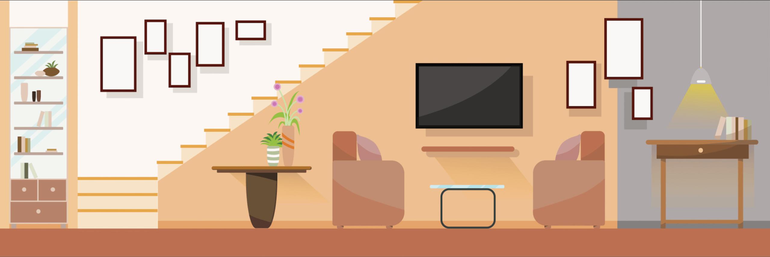 interieur salon moderne avec meubles