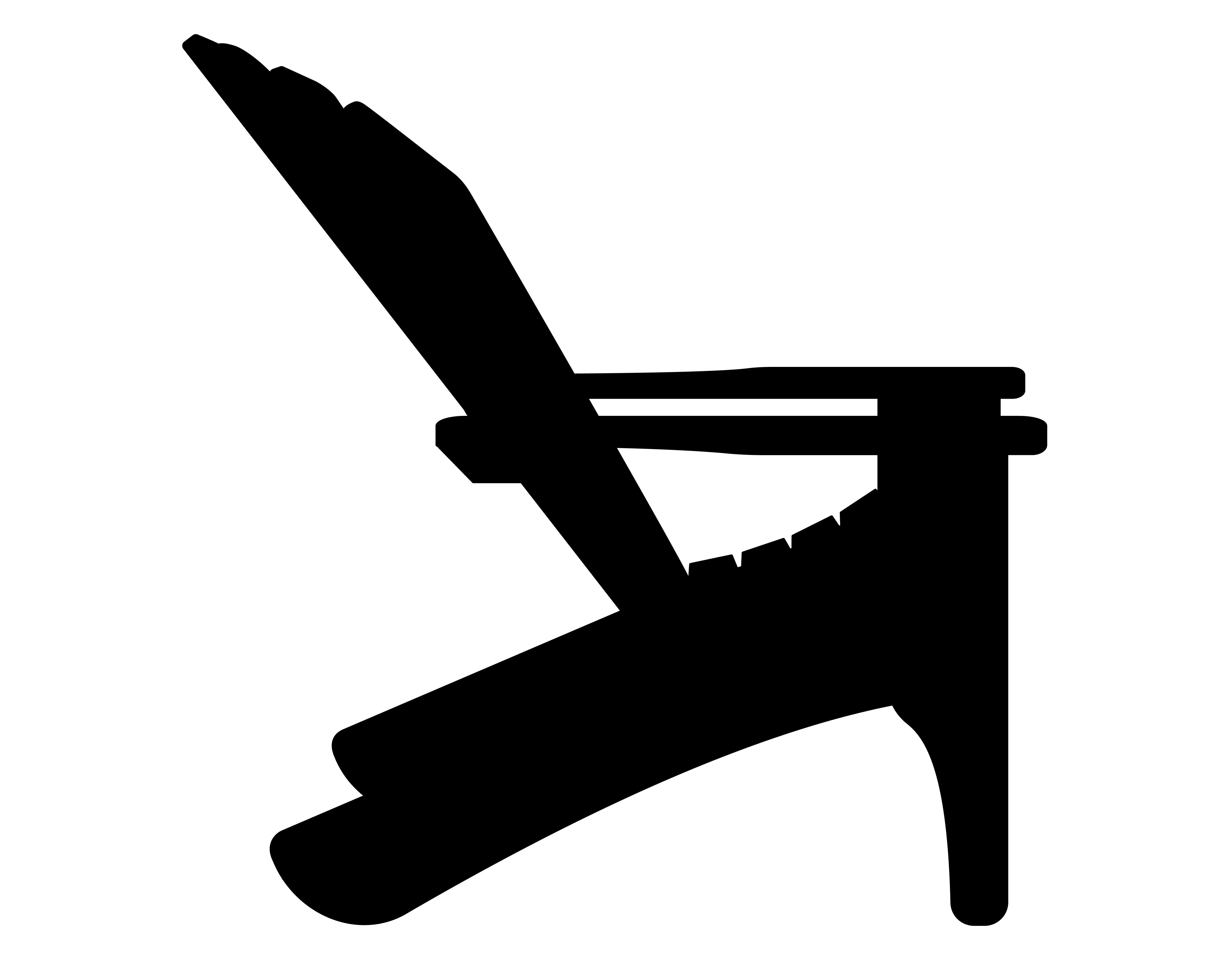 fauteuil de plage ou de jardin noir contour silhouette illustration vectorielle 492547 telecharger vectoriel gratuit clipart graphique vecteur dessins et pictogramme gratuit