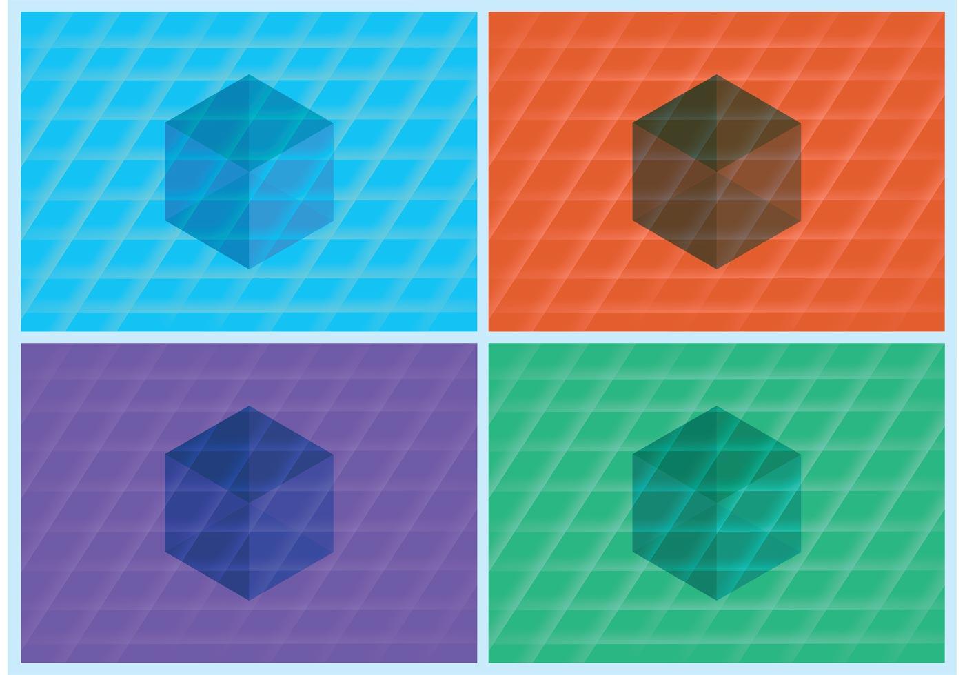 fond d ecran 3d cube vector