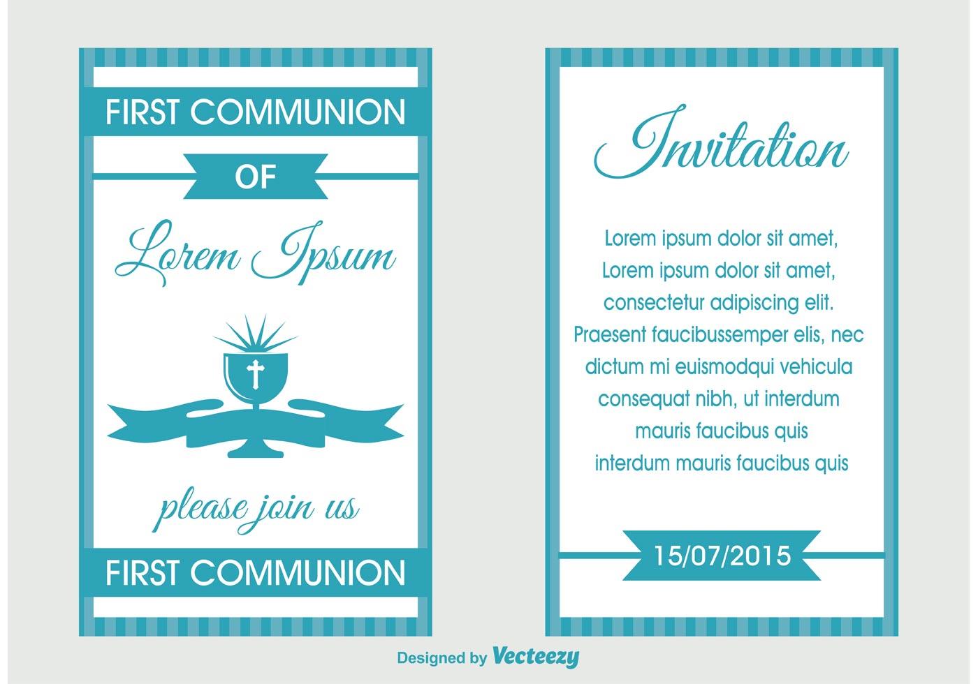 invitation a la premiere communion