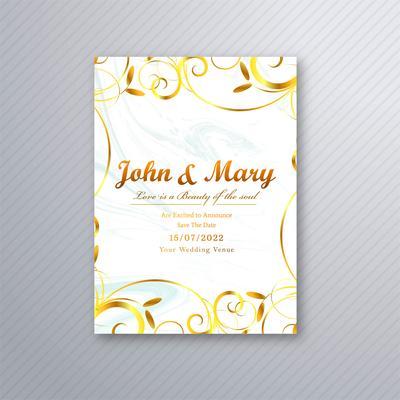 floral belle carte mariage