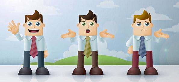 14 Cartoon Businessman Characters