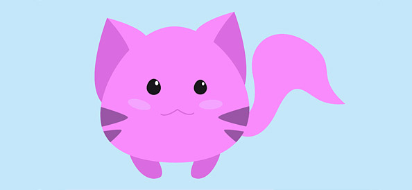 Sweet Cat Vector Character