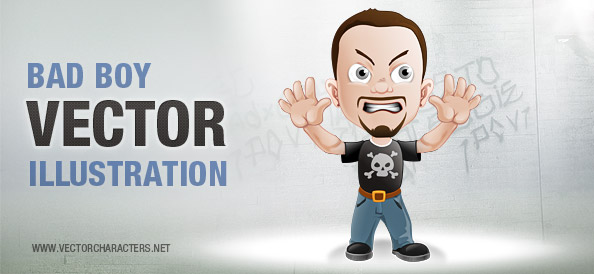 Bad Boy Vector Illustration