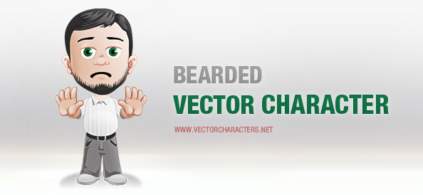 Male Vector Character With a Beard