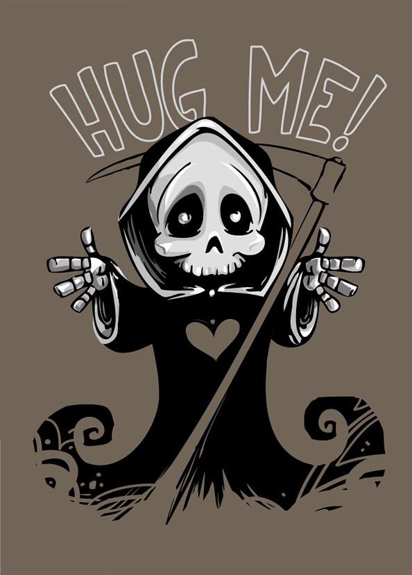 Cute Death Mascot - Grim Reaper