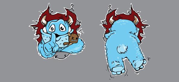 Sweet Monster Vector Illustration