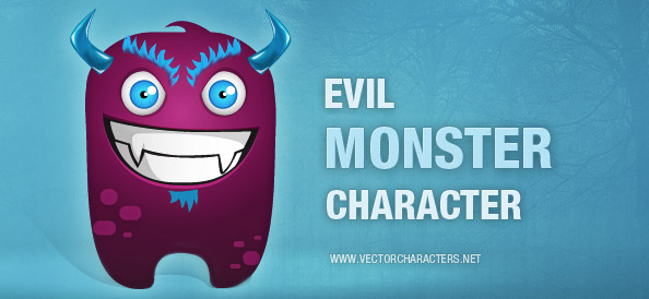Evil Monster Vector