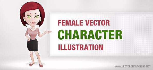 Female Vector Character Illustration