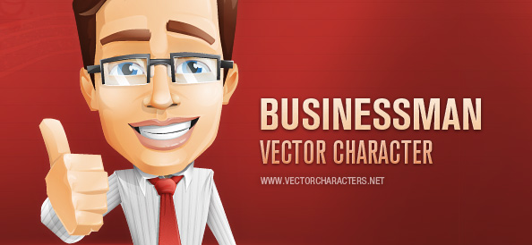 Businessman Vector Character