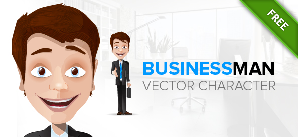 Free Businessman Cartoon Character