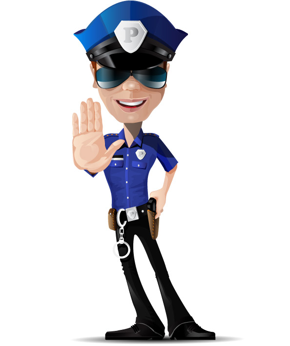 Policeman Vector Character Preview