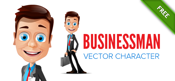 Free Businessman Vector Mascot