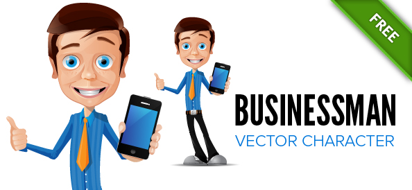 Businessman with a Phone Vector