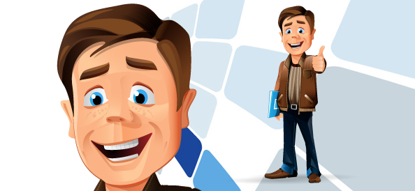 Casual Businessman Vector Character