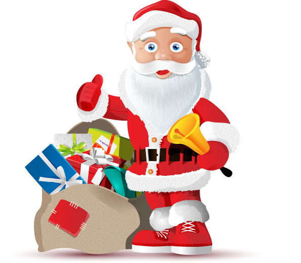 Santa Claus Vector Character Preview