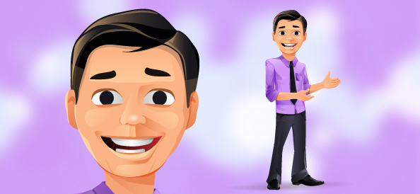 Young Businessman Vector Character