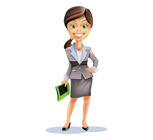 Attractive Business Woman Vector Character Preview