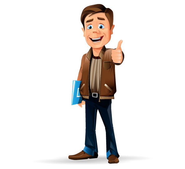 Casual Businessman Vector Character Preview