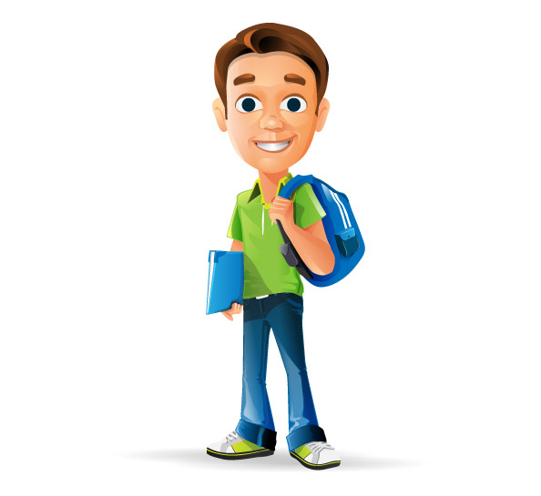Schoolboy Vector Character Preview