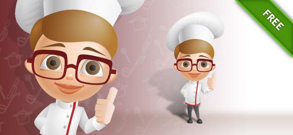 Cartoon Chef Vector Character