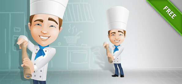 Male Chef Vector Character
