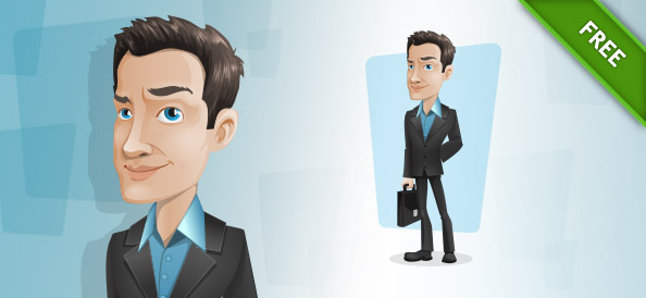 Free Businessman Vector Character