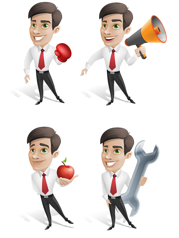Free Businessman Vector Character Set - Vector Characters