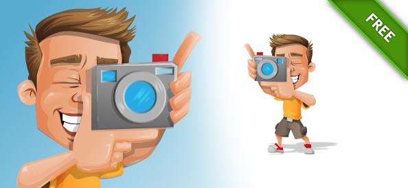 Photographer Vector Character
