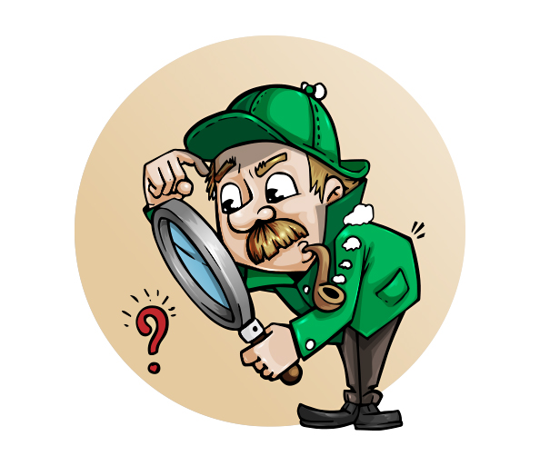 Searching Man Vector Character
