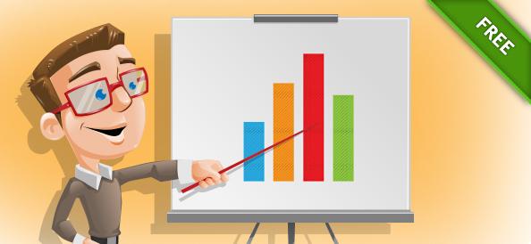 Vector Illustration of a Presentation Guy
