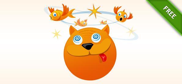 Funny Cat Vector Illustration